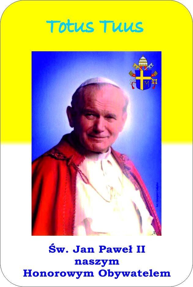 Jan Paweł II honorowy obywatel Gminy Czerwonka